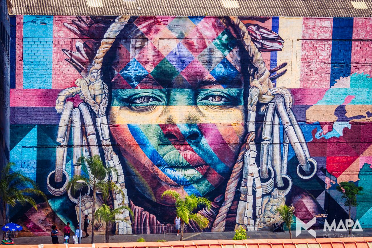 Mural Etnias - Pier Mauá, Rio de Janeiro/RJ