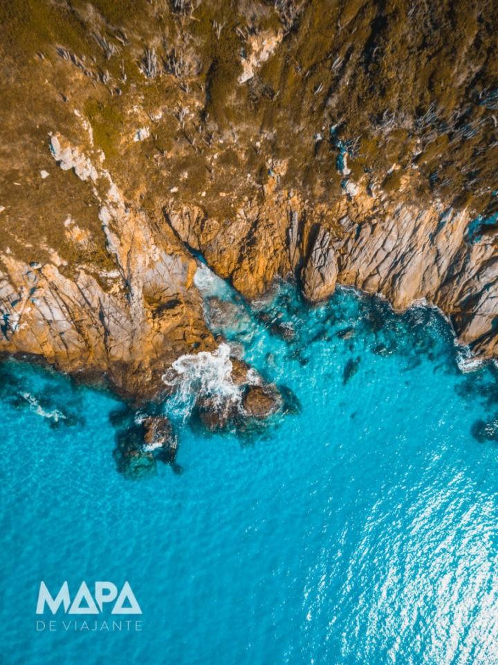 Imagem aérea de Arraial do Cabo