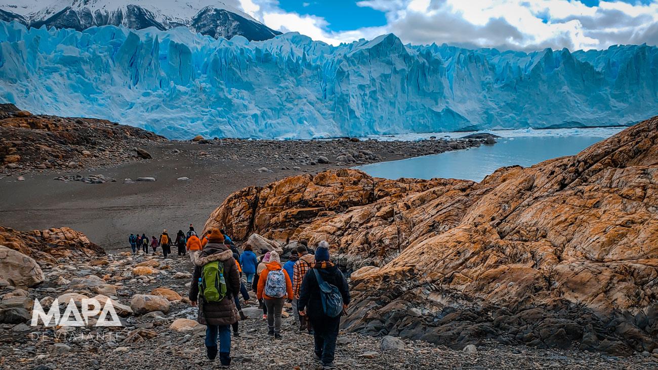 Base de acesso ao trekking na geleira Perito Moreno