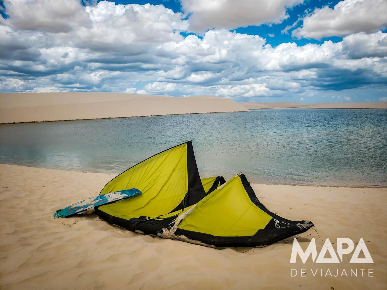 Lagoa do kite Canto de Atins Lençóis Maranhenses