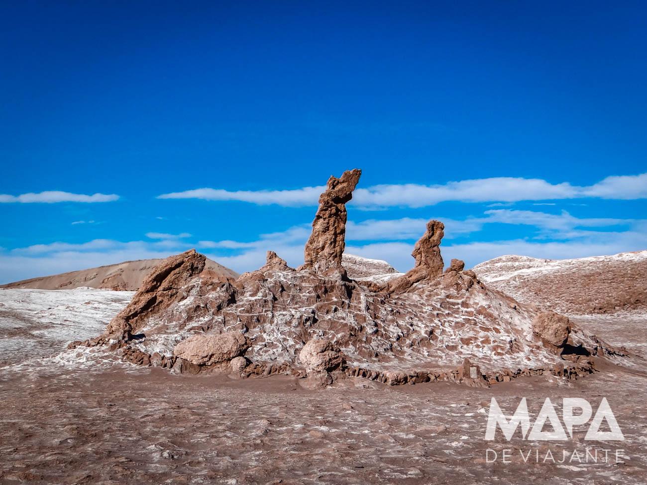 Três Marias Vale da Lua Deserto do Atacama Chile
