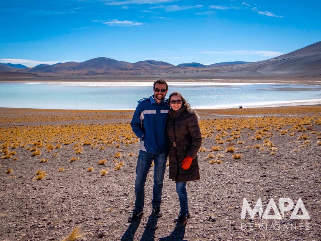 Lagoa Laguna Tuyacto Deserto do Atacama