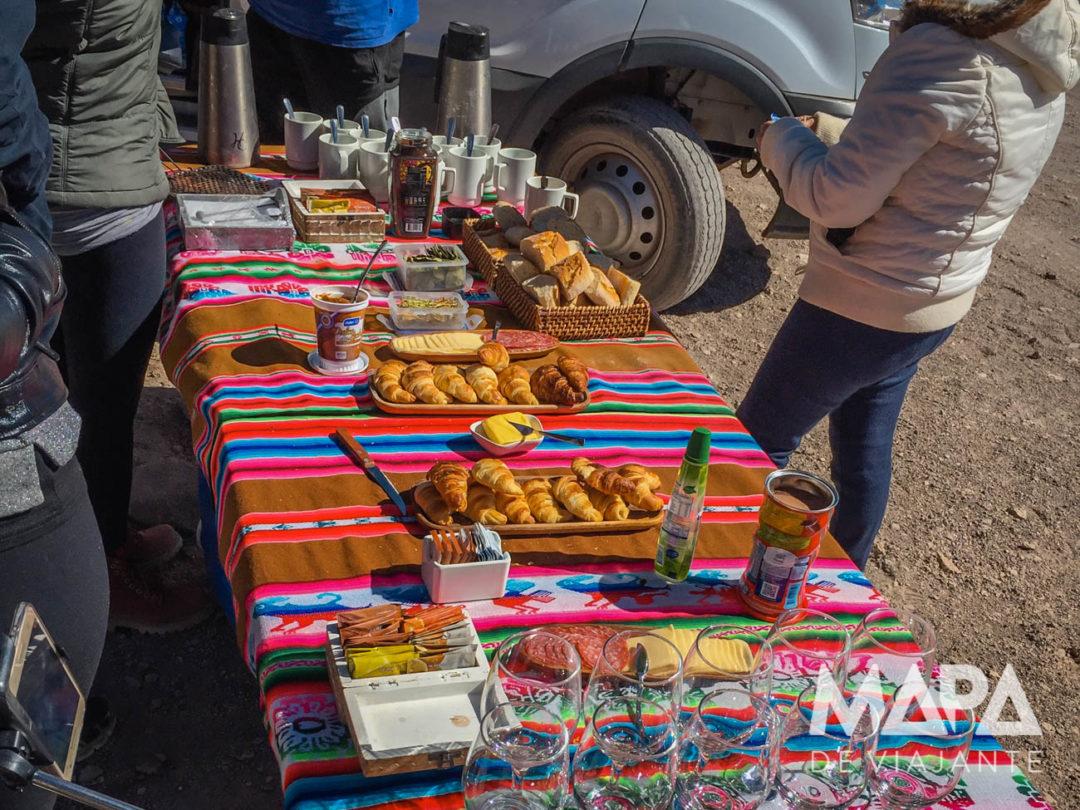 Deserto do Atacama Café da Manhã FlaviaBia Expediciones