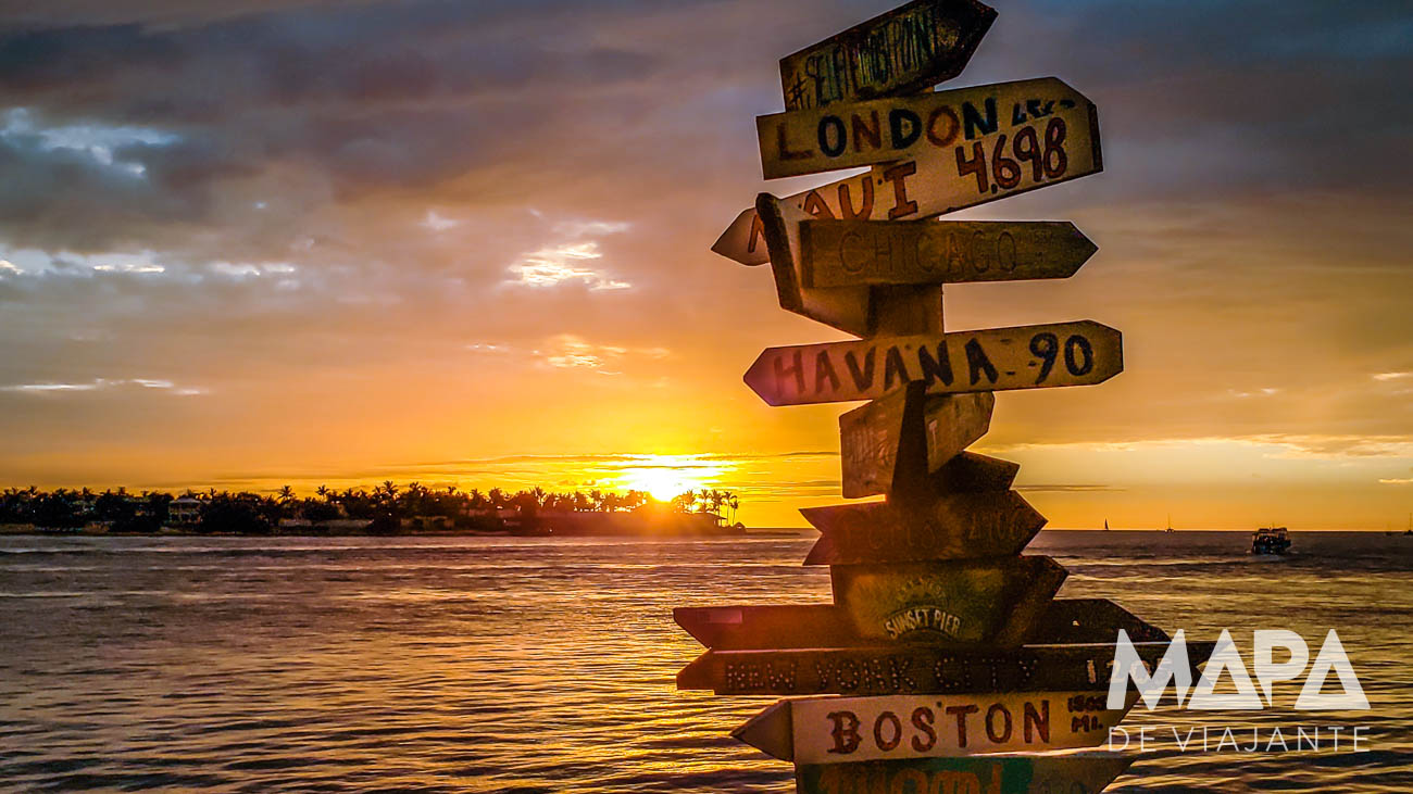 Sunset Celebration Key West Mallory Square Mapa de Viajante