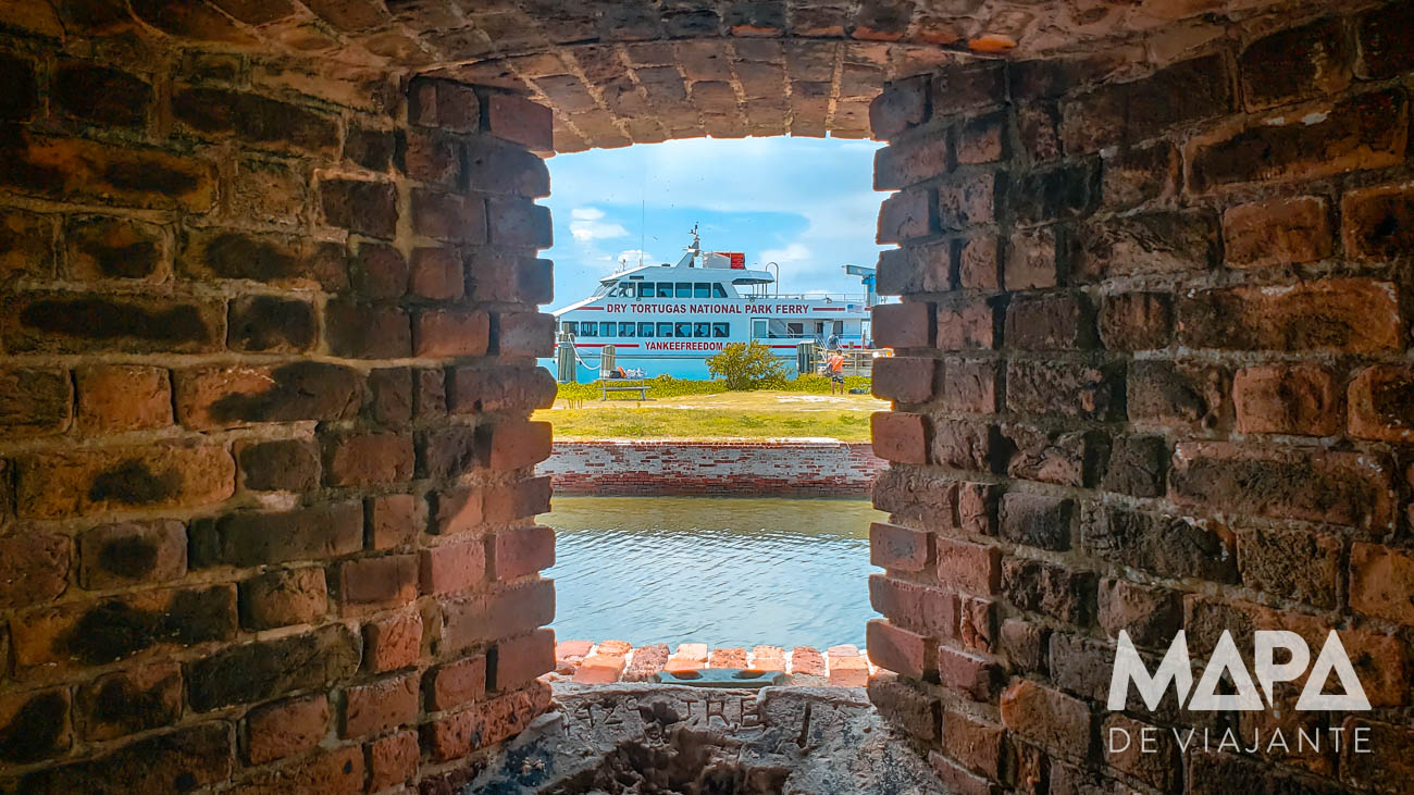 Dry Tortuga Key West Mapa de Viajante Fort Jefferson