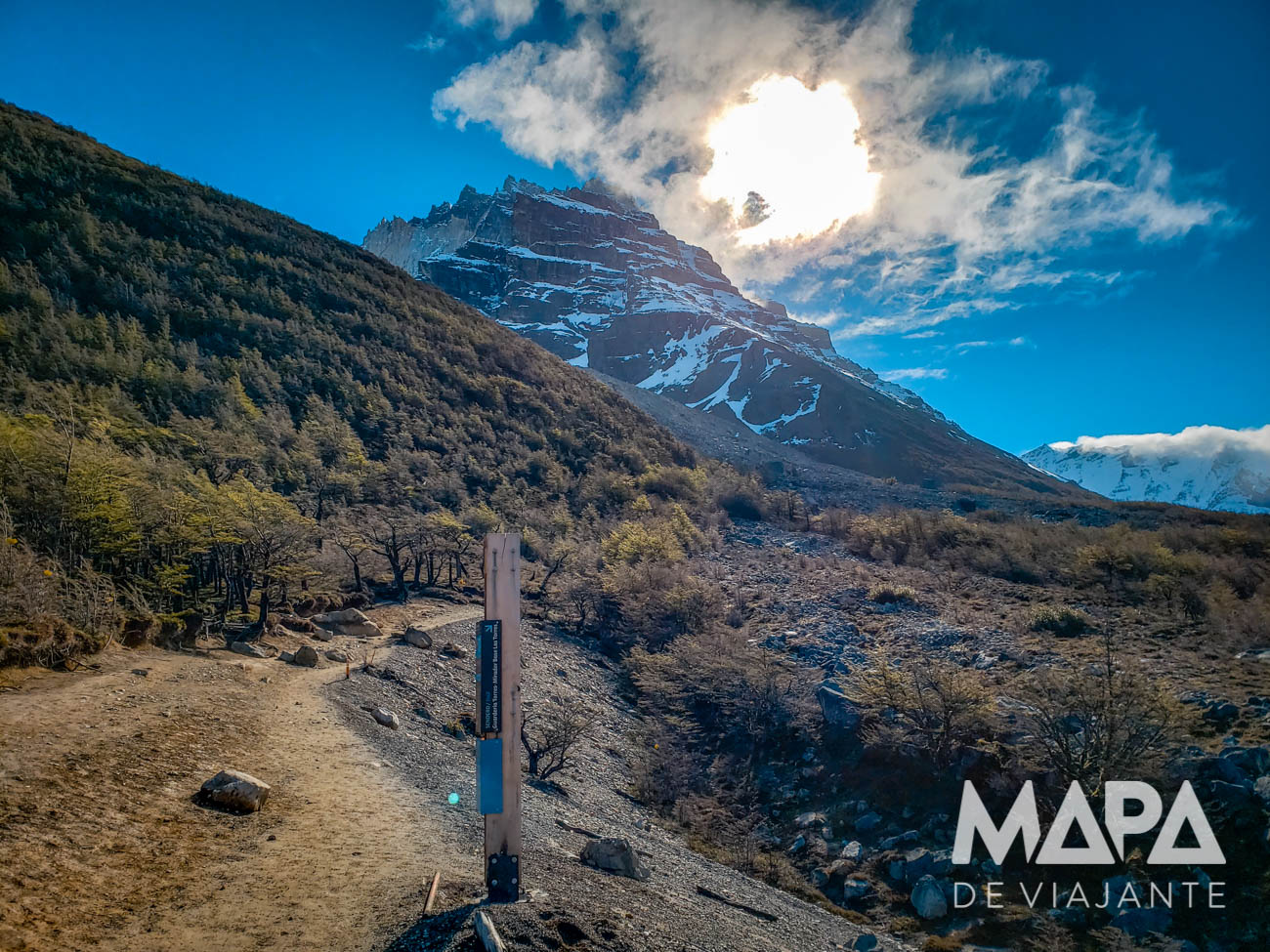 Trecho final da trilha até as Torres del Paine