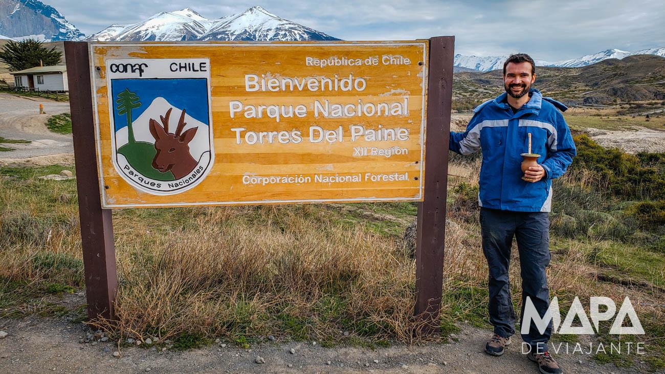 Entrada do Parque Nacional de Torres del Paine