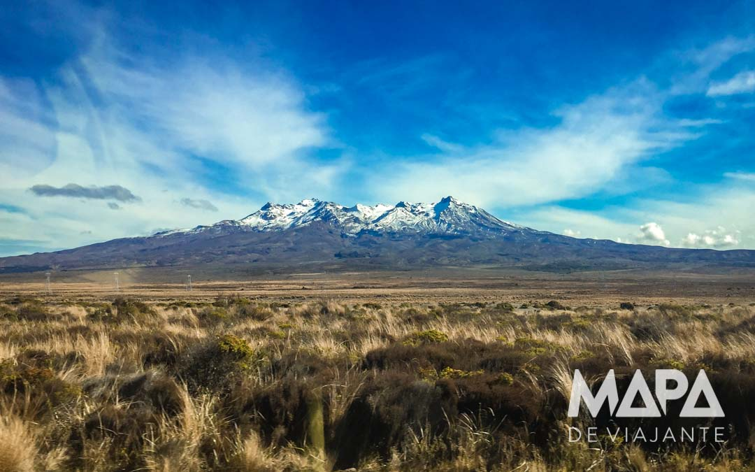 vulcões Ruapehu, Ngauruhoe e Tongariro Nova Zelândia