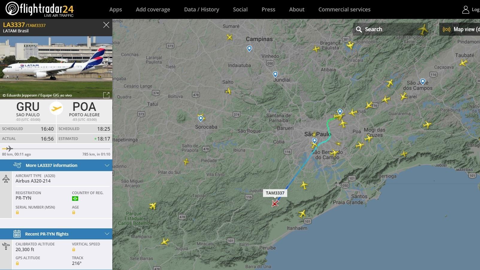 App para acompanhar voos