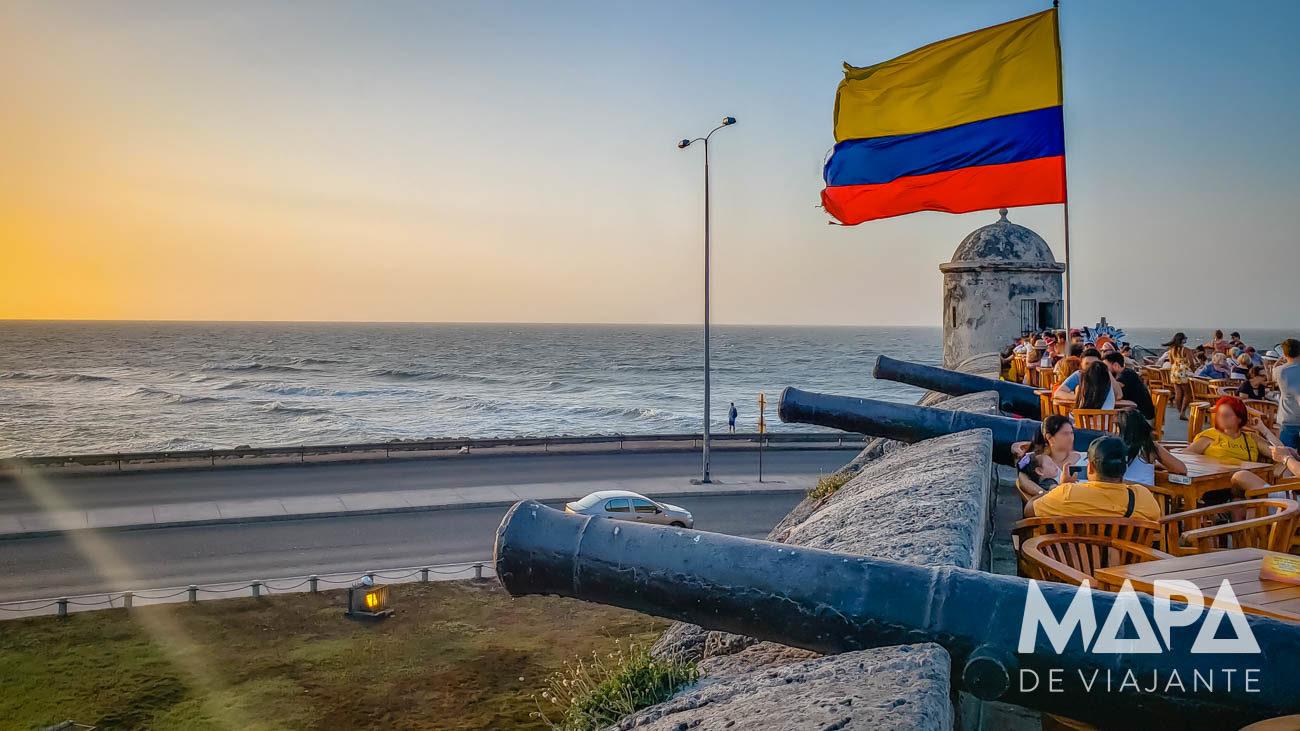 Pôr do sol em Cartagena