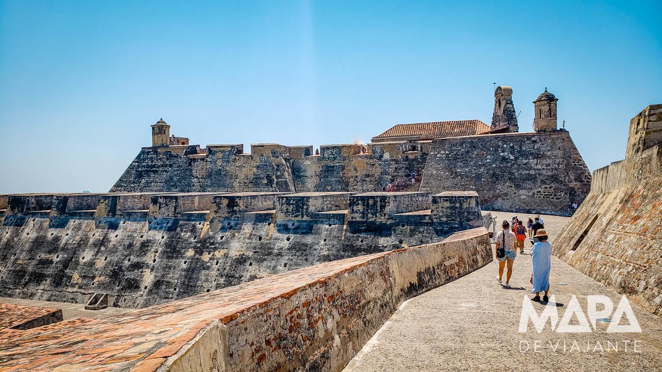 Castelo de San Felipe em Cartagena
