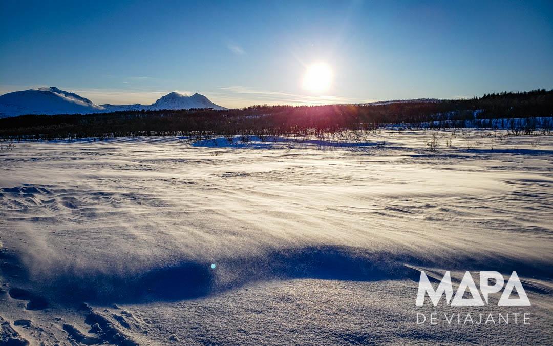 Paisagem em Tromso na Noruega