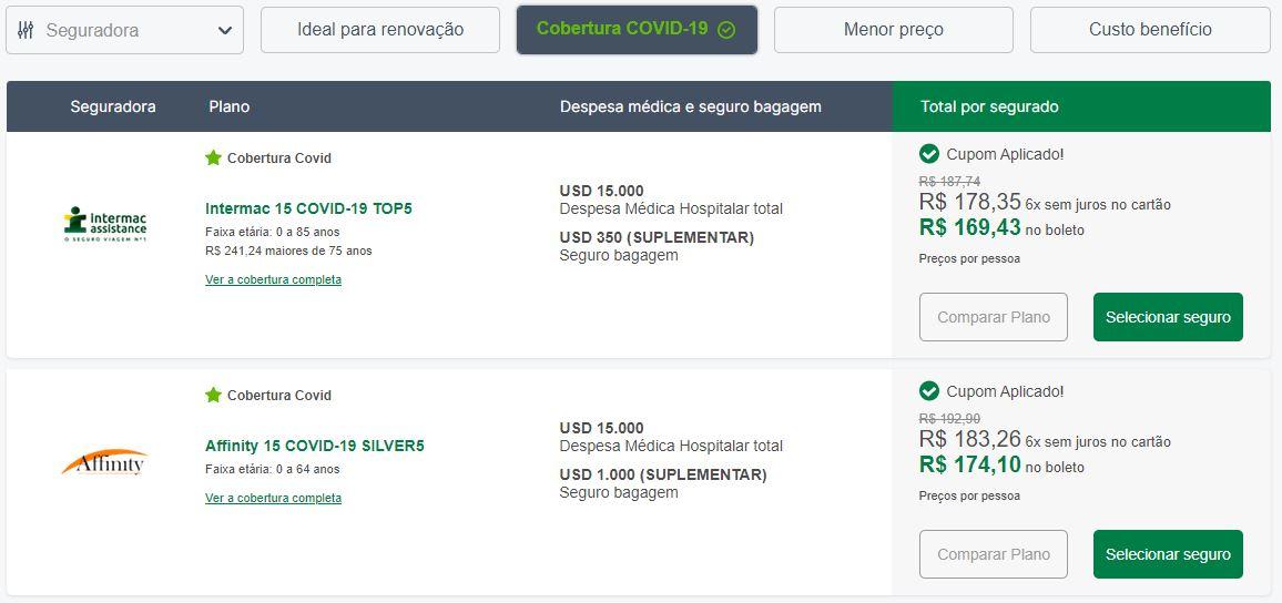 Seguro Viagem Cobertura Covid-19 América do Sul