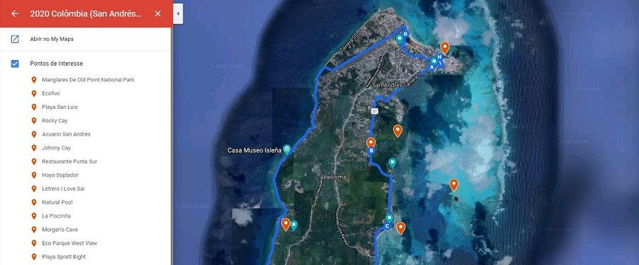 MyMaps Google Planejar Viagem