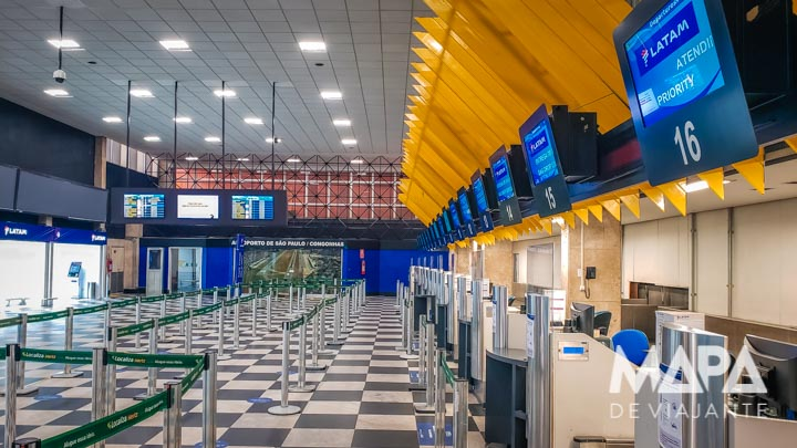 Aeroporto Congonhas voo covid