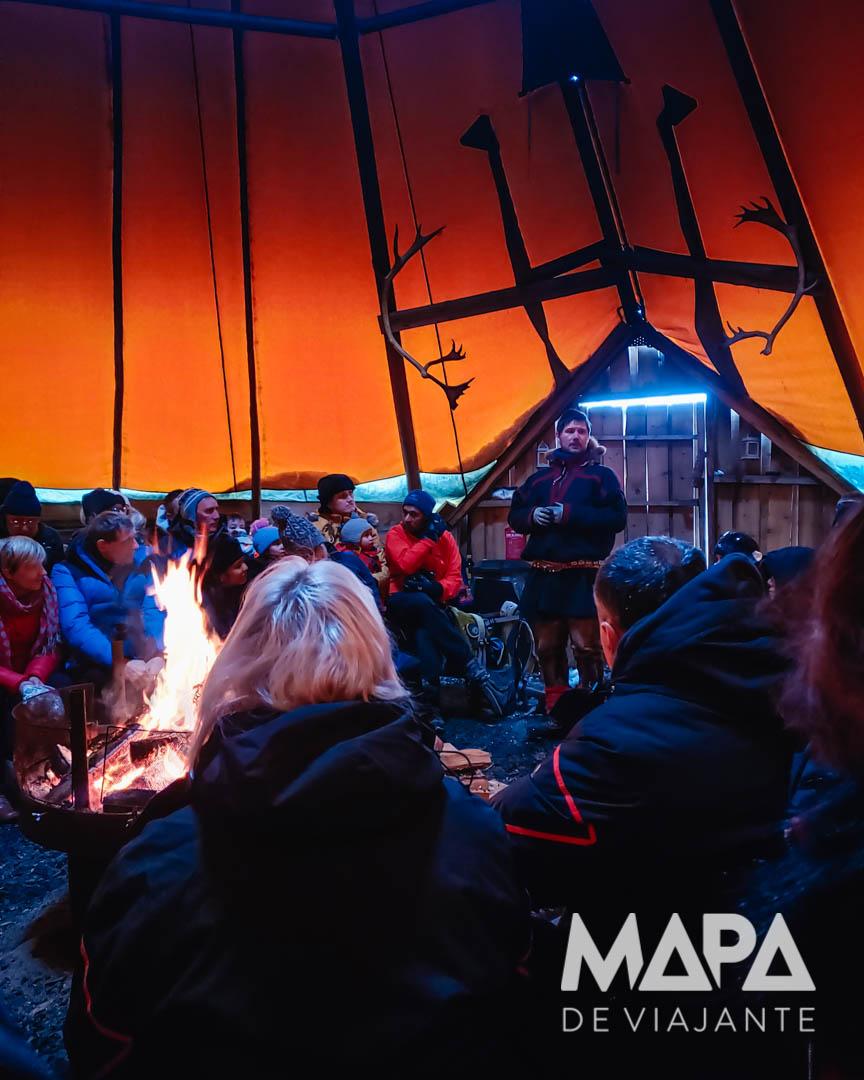 Tenda Lavvu Passeio Cultura Sami Noruega