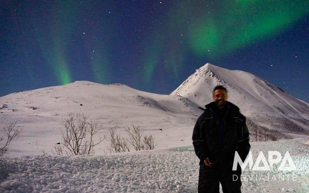 Foto da Aurora Boreal sem iluminação adequada