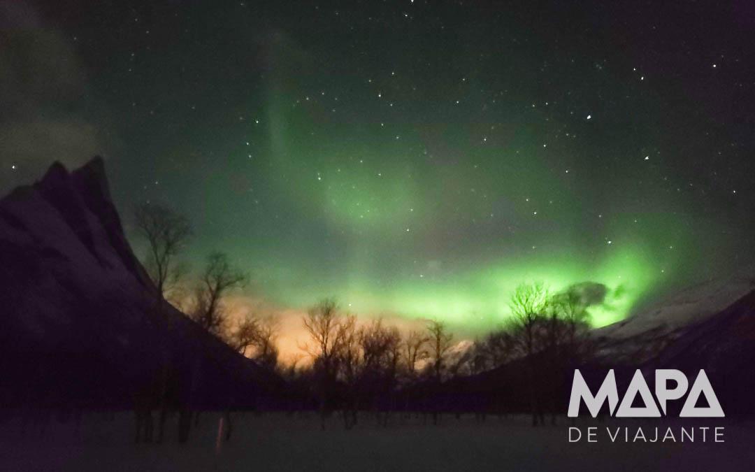 Foto da Aurora Boreal com Celular