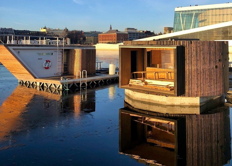 Sauna Flutuante Ópera Oslo